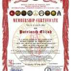 Martial Arts Membership Certificates