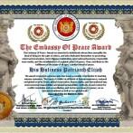 The Embassy of Peace Award