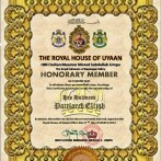 Honorary Member of The Royal House of Uyaan