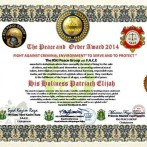 The Peace and Order Award 2014